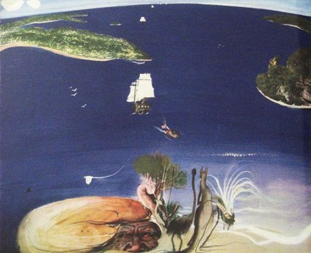 Brett Whiteley  The Arrival, 1988  coloured photographic etching, framed  edition 73/150, 70 x 88 cm