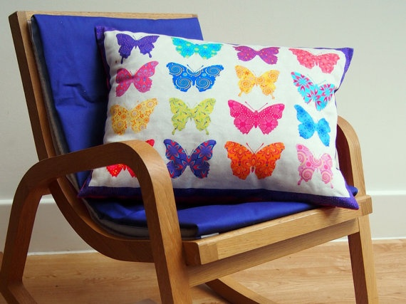 Butterfly cushions Children's cushions by CatchingStarsUK, £25.00