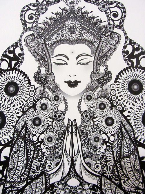 Balinese art Almost cogwheels!