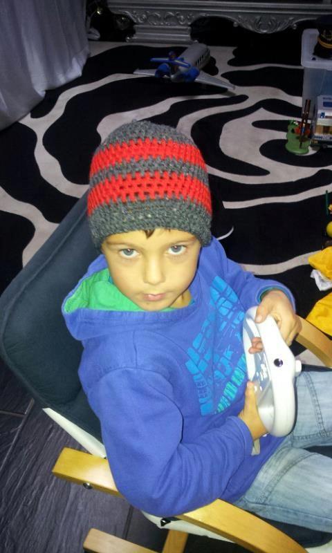 chrochet hat for my son