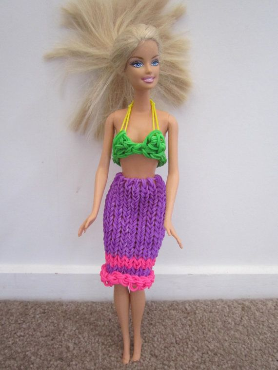 Rainbow loom barbie skirt for sale - completely customisable!