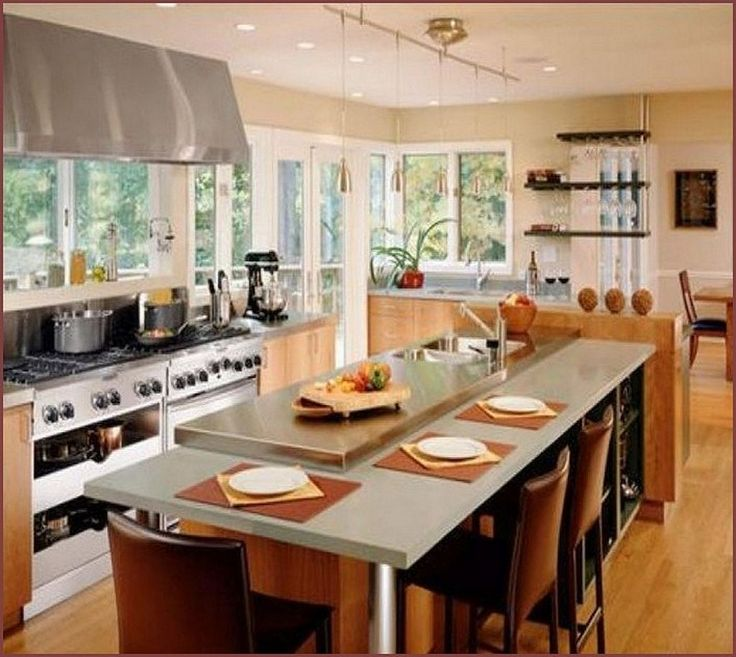Best 25+ Kitchen Island Designs With Seating Ideas On