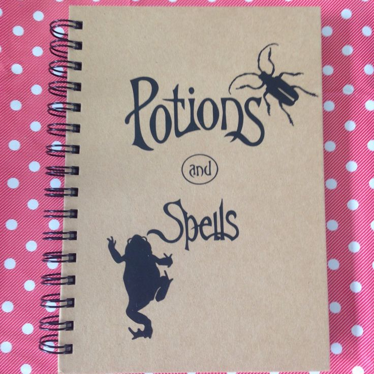 Do you know any witches or wizards that would love their very own spell book? Great back to school ideas.  More designs available in my shop ;)