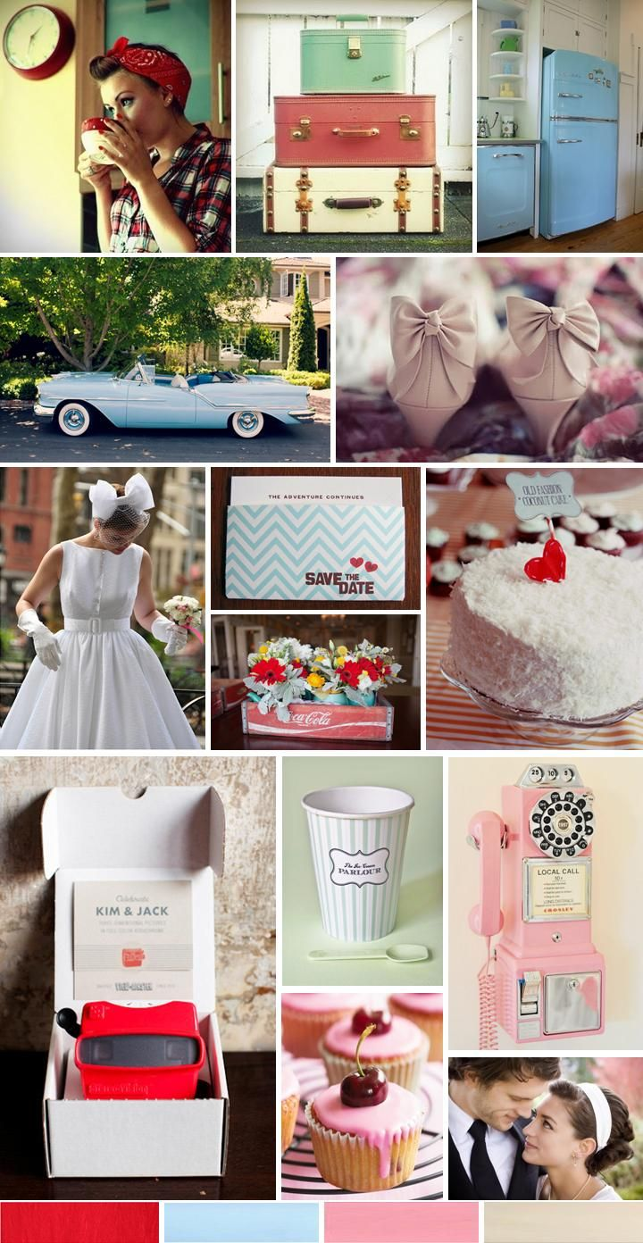 Fabulously Retro Wedding, inspiration board by The Simplifiers | Austin, TX — The Simplifiers : Event Planning - Austin, Texas