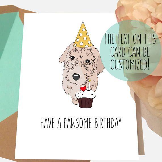 GOLDEN Doodle Card Dog Birthday Labradoodle