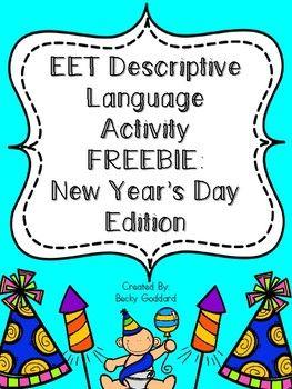 {FREEBIE!!} EET Descriptive Language Packet - New Year's D