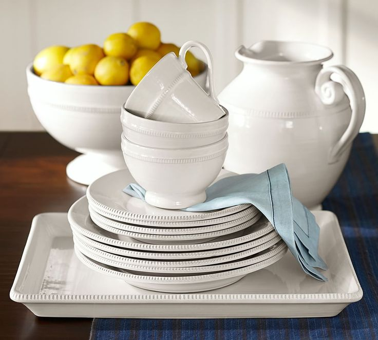 Set your table in style! Classic white dinnerware always looks chic and can be accessorized & 18 best PB: Dinnerware images on Pinterest | Salad plates ...