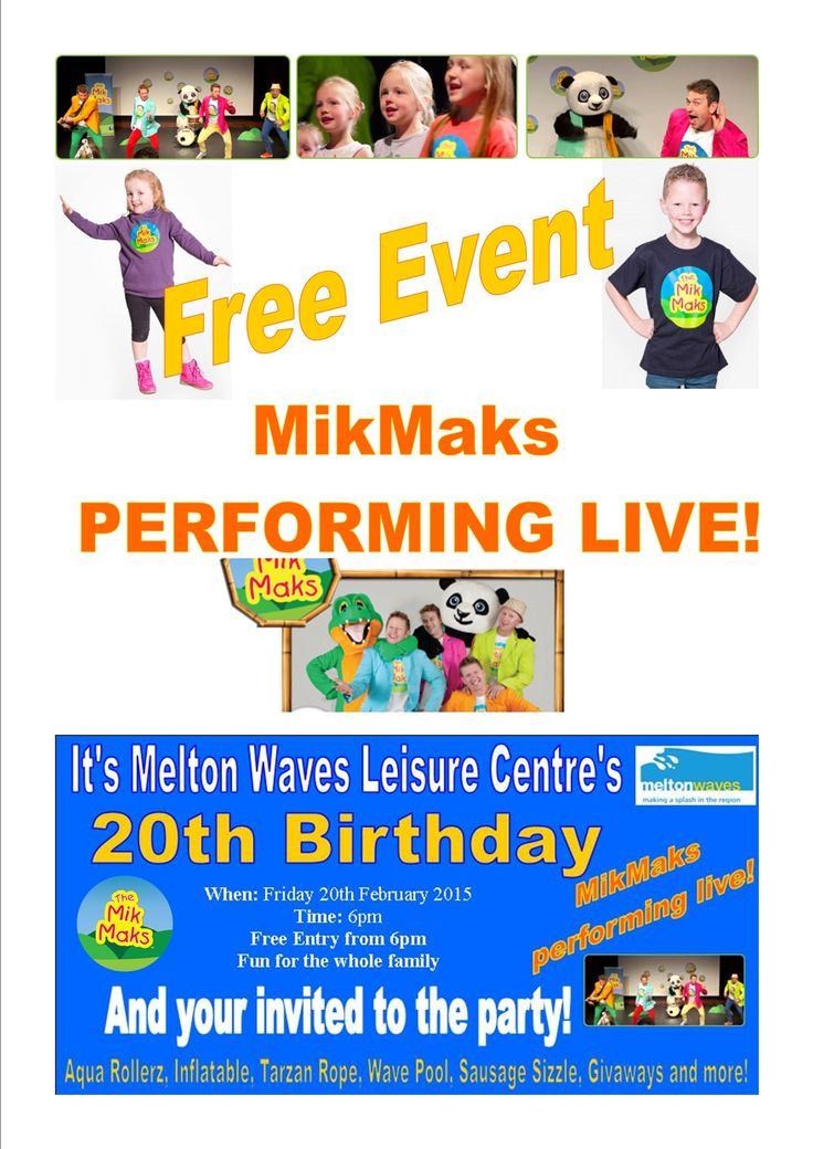 Friday 20th February 2015 The MikMaks performing at Melton Waves Leisure Centre to celebrate their 20th Birthday...