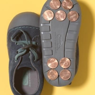 Penny Tap Shoes {Easy Crafts}