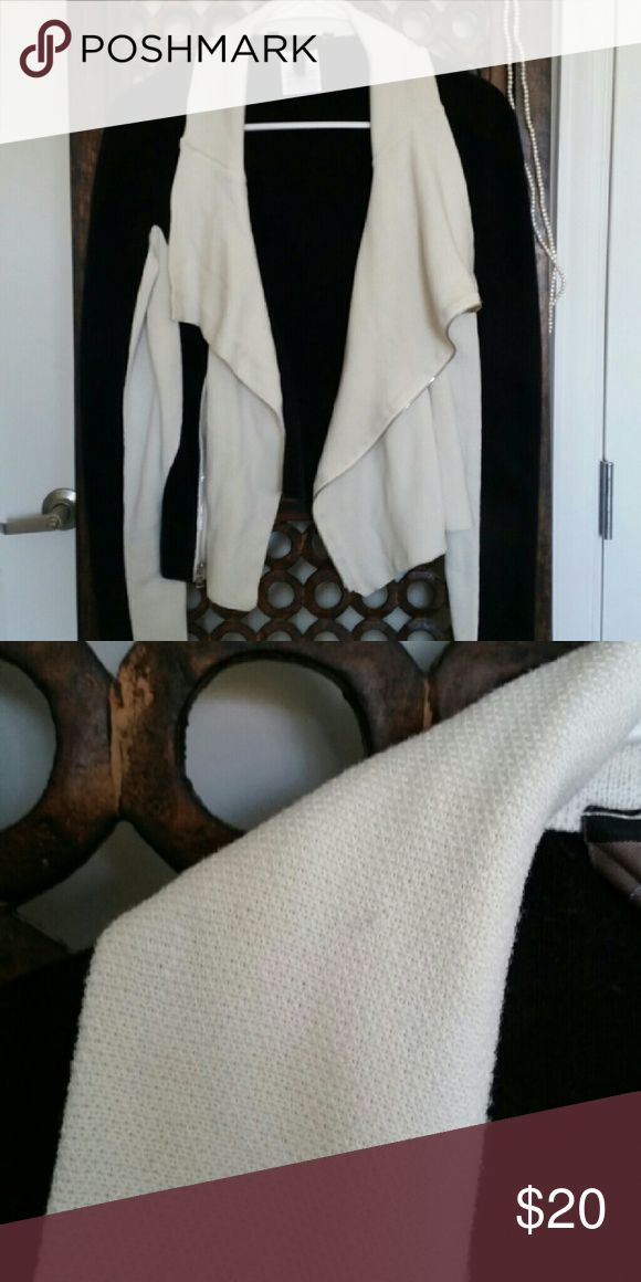 MOVING SALE BCBGMaxAzria Jacket Perfect for a night out. You can tell it has been washed a few times. There is a small snag on right shoulder as shown on pic above. Non smoking home. BCBGMaxAzria Jackets & Coats