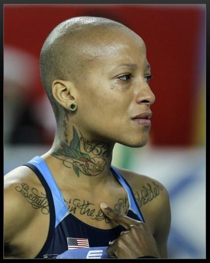 Olympian Inika McPherson. The tattoo that is inked across ...