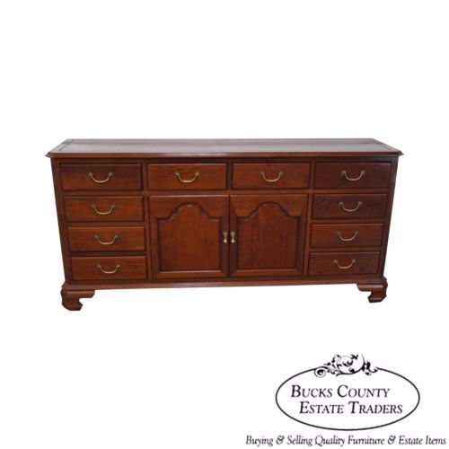 Custom-Crafted-Solid-Mahogany-Chippendale-Georgian-Court-Style-Long-Dresser
