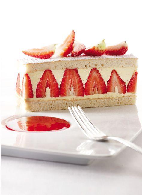 Miserable met botercrème en rood fruit - recept met aardbeien - Zonnigfruit