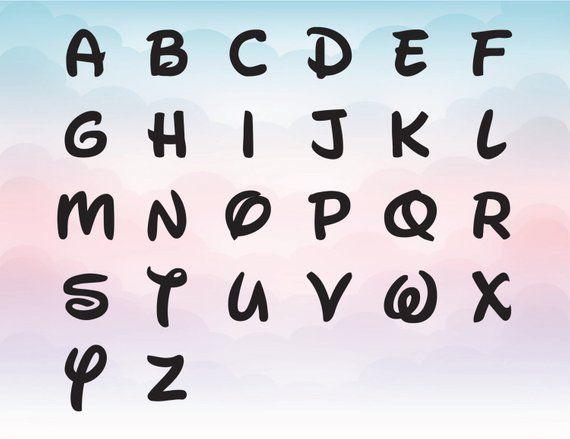 Download Disney Font SVG Bundle pack Alphabet and Numbers Svg Dxf ...