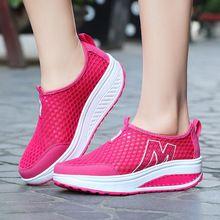 Zapatos de Tacón Alto femeninos Plataforma Tenis Feminino Femme Casual Basket 2016 Slipony Mujeres Krasovki Señoras Barato De Zapatos Para Niña Gimnasio YS x132(China (Mainland))