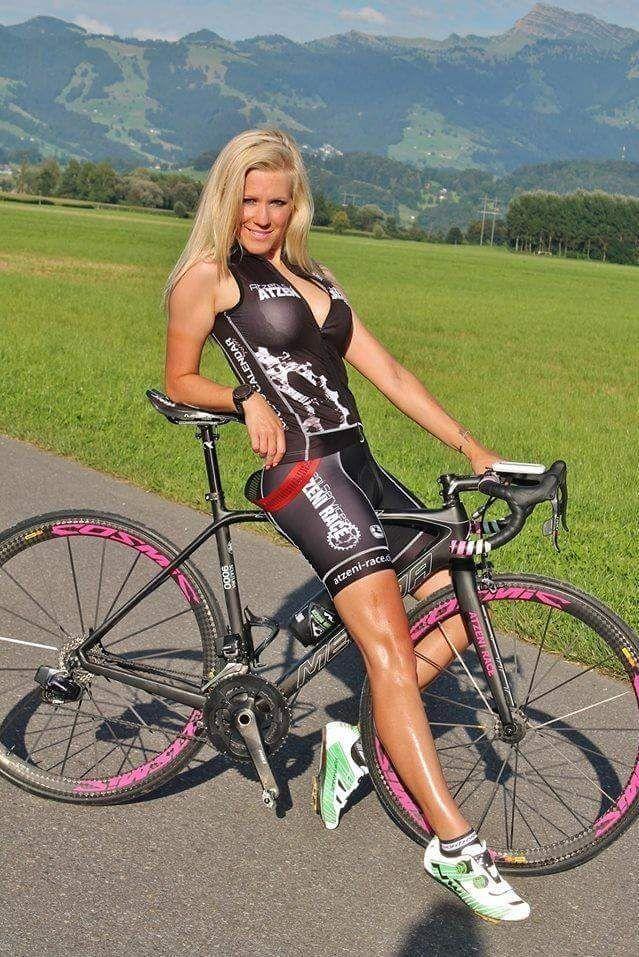 hot cycling girl