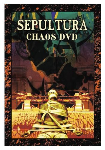 """DVD dei #Sepultura intitolato """"Chaos"""". Contiene tutti i video della band, interviste, menù interattivi e la discografia completa."""