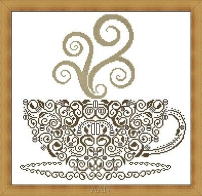 COFFEE - Counted Cross Stitch Pattern