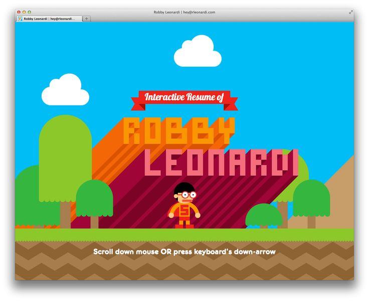 Robby Leonardi's Interactive Resume