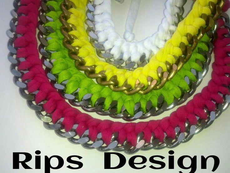 Rips Design: collane catena e fettuccia