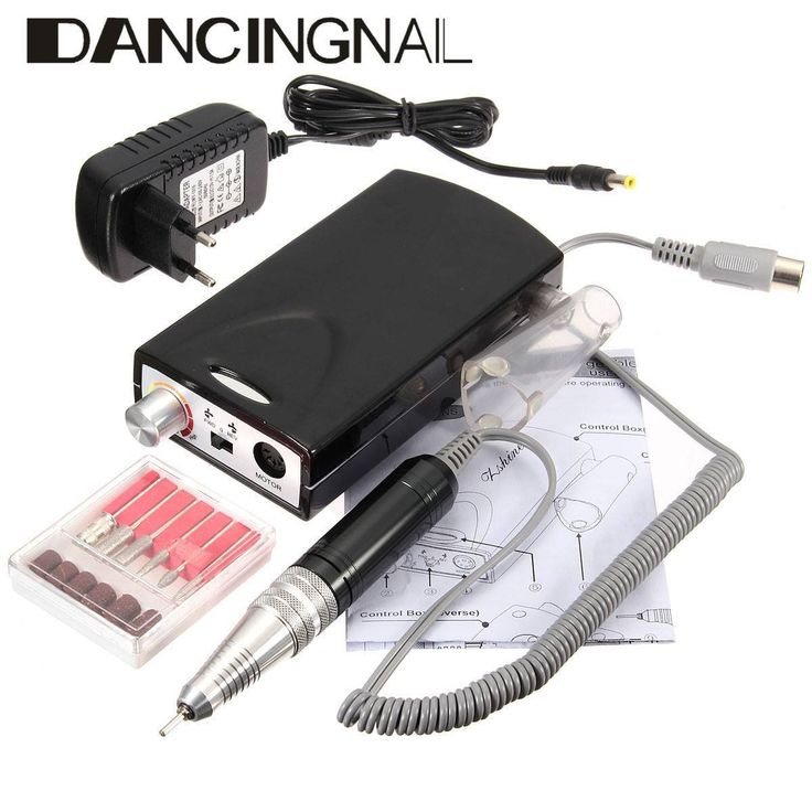 DANCINGNAIL Rechargeable Electric Nail File Drill Bit Manicure Pedicure Machine Tool Set Kit ** Click on the image for additional details.