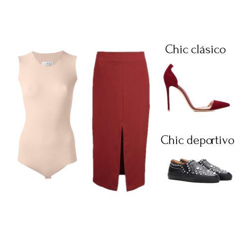 Body + falda ajustada