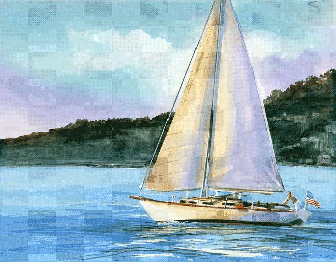 Sailboat painting.