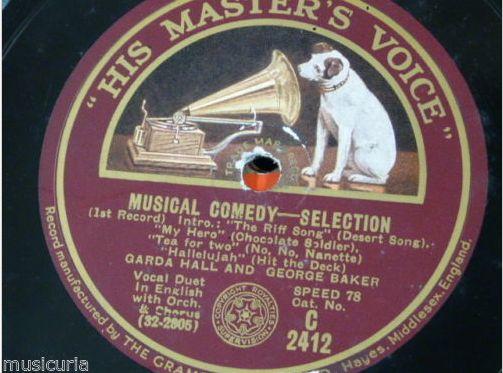 Garda Hall and George Baker. Musical Comedy Selection