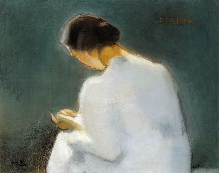 Maria (1906). Helene Schjerfbeck (Finnish, 1862-1946). Oil on canvas. From about 1902 Schjerfbeck, in poor health, adopted a solitary life, developing a much more simplified style. Her work was dominated by domestic scenes, featuring women and children engaged in reading or embroidery. As details gradually disappeared from her paintings, they gained increasing depth, approaching an abstract technique which was far ahead of her time.