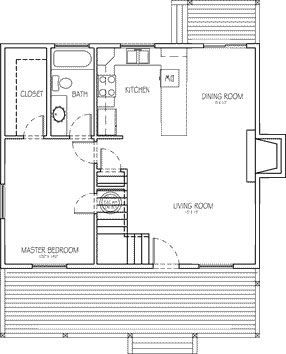 Small Lakeside Cabin Plans | The Moonlighter - A comfortable cabin with loft that's perfect for the ...
