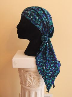 Free chemo hat pattern, a scarf that is as easy to wear like a hat Snip-Rip-Hooray