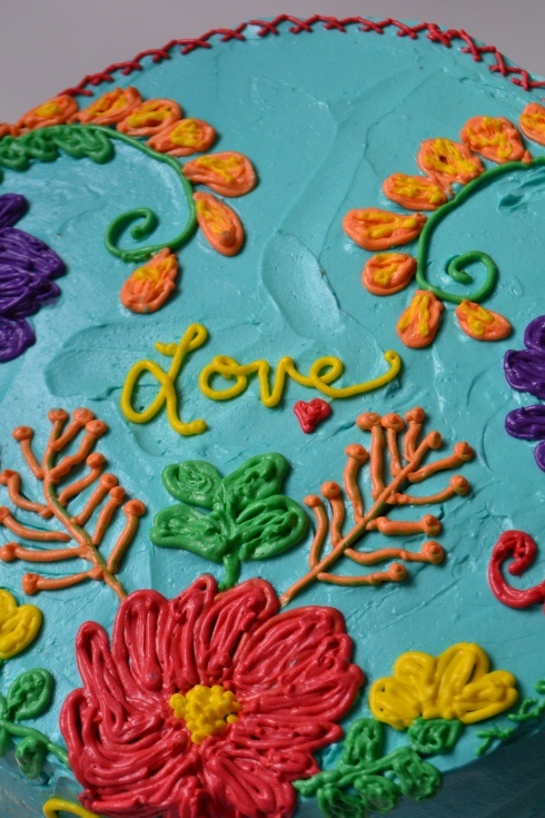 Mexican embroidery cake fun food pretty pinterest
