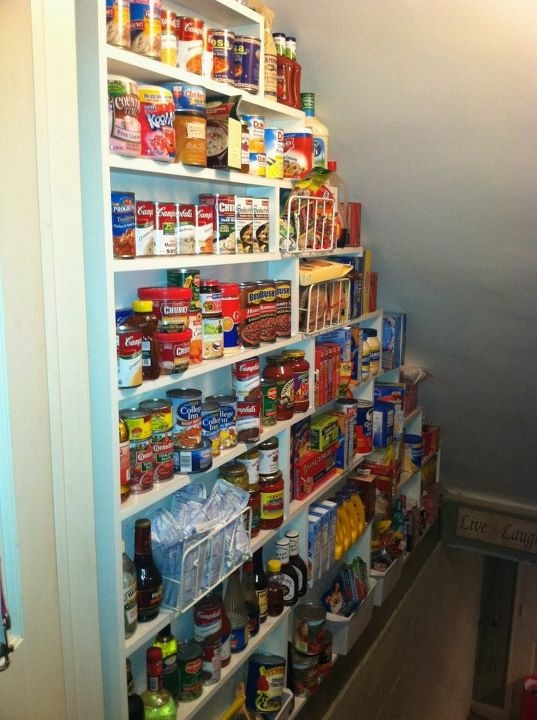 Shallow Open Pantry Shelves In Kitchen: Pantry Shelves In My Cellar Way