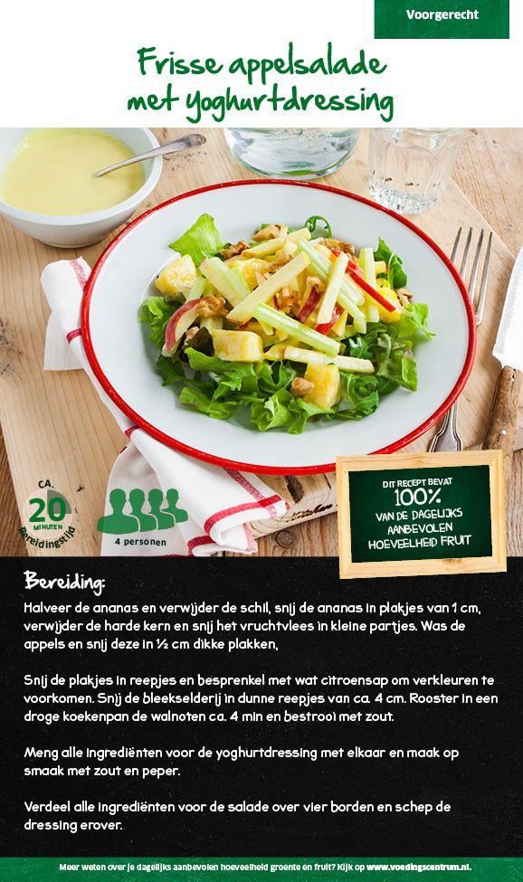 Recept voor frisse appelsalade met yoghurtdressing #Lidl