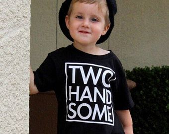 Two handsome shirt   2 year old birthday shirt   Second birthday   Boys 2nd birthday   Two year birthday   Two year old   Birthday shirt