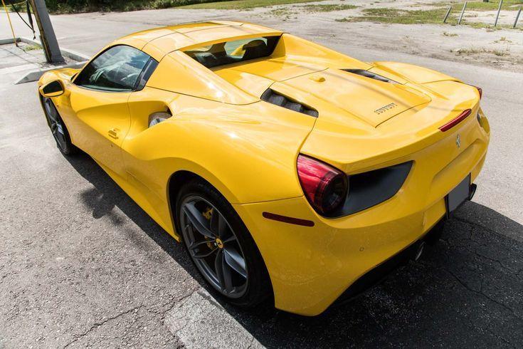 Justleased A 2017 Ferrari 488 Spider Pfs Leasing Ferrari Lease Luxury Car Cars Carsofinstagram Yellow Fe Ferrari Ferrari 488 Ferrari World