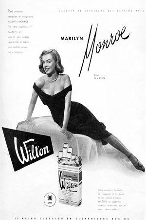 1950: Marilyn Monroe advertising Wilton Cigarettes .... #marilynmonroe #normajeane #vintagemagazine #pinup #iconic #raremagazine #magazinecover #hollywoodactress #1950s