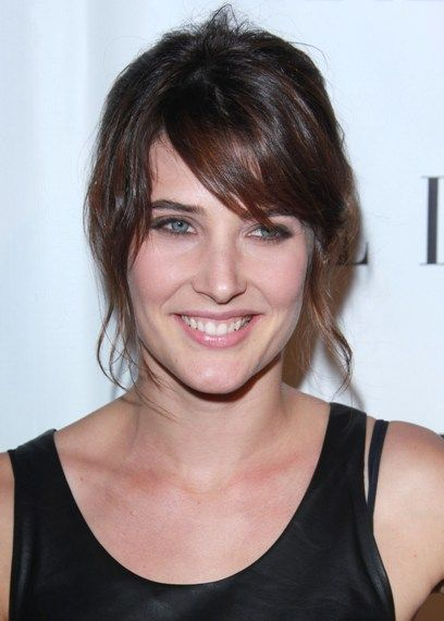 Cobie Smulders ponytail hairstyle with bangs