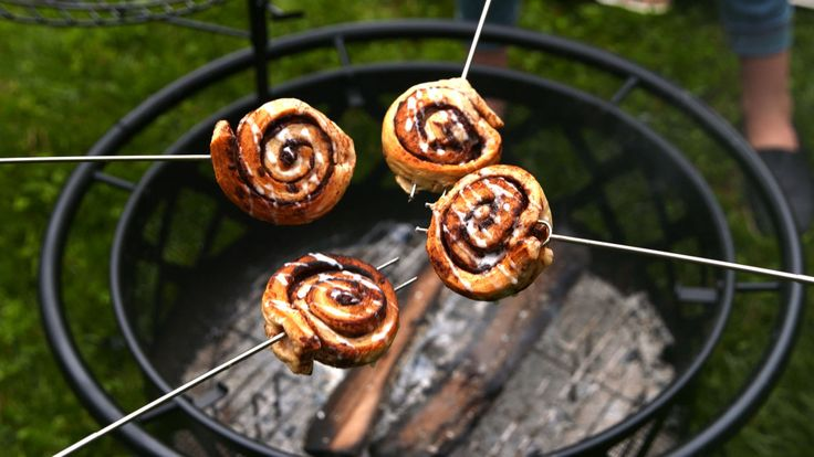 Campfire Cinnamon Rolls  - Delish.com