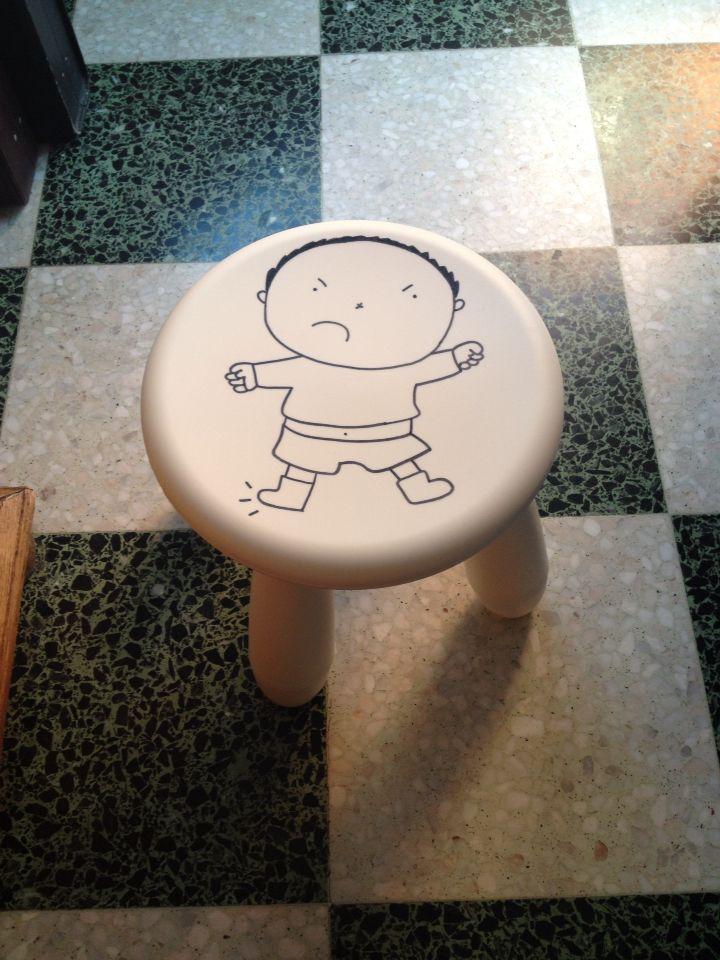 Boze stoel: plekje om even af te koelen en alleen te zijn als een kleuter zich boos voelt