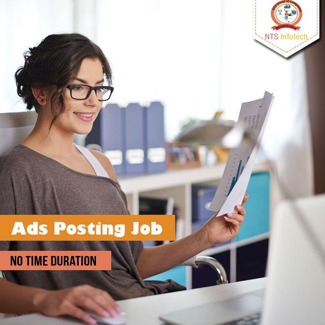 Ad posting job.Please visit us- www.ntsinfotechindia.com