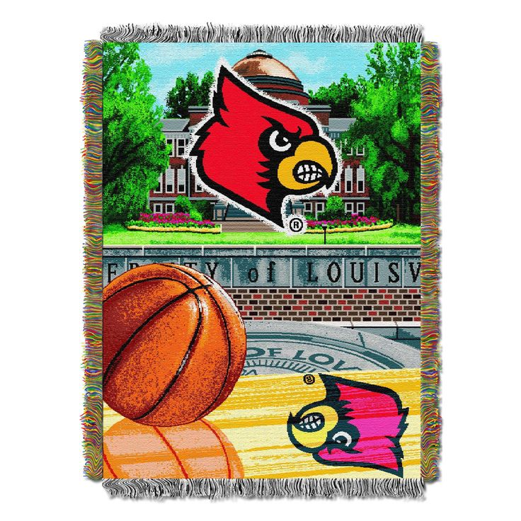 "Louisville College """"Home Field Advantage"""" 48x60 Tapestry Throw"
