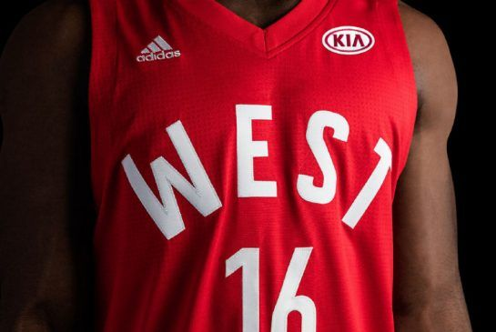 The block letters on the front of the all-star jersey are borrowed from the Toronto Huskies, the franchise that headlined the NBA's first-ever game in 1946.
