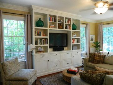 Built In Cabinetry Traditional Family Room Richmond Miller Restoration Construction