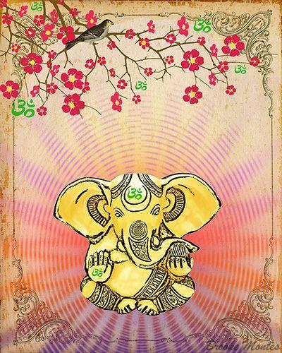 Shri Ganesh! Remover - Hindu God Ganesha - Art By Brooke Montes