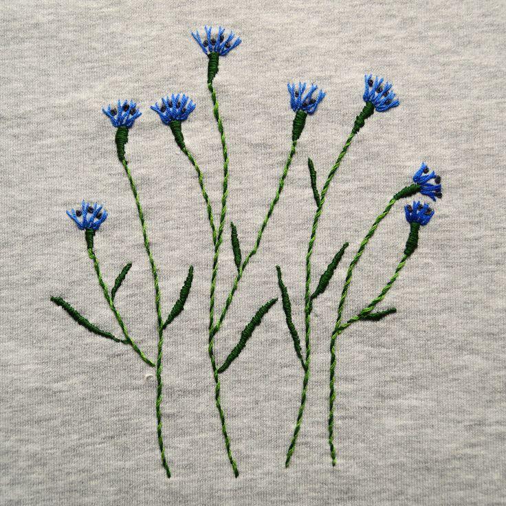 the cornflowers for Rechenka made by Lena Rastiagaeva