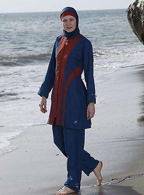 Adabkini Leylak Full Cover Modest Swimwear Swimsuit Beachwear Jewish Hindu Burki