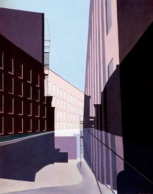 """Manchester,"" Charles Sheeler, 1949, oil on canvas, 25 x 20"", Baltimore Museum of Art."