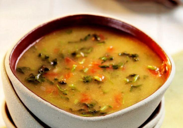 Sopa-creme de mandioquinha e agrião
