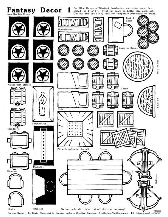 Free Fantasy Decor 1 for Blue Dungeon Tiles icons symbols drawing painting illustration resource tool how to tutorial instructions map cartography | Create your own roleplaying game material w/ RPG Bard: www.rpgbard.com | Writing inspiration for Dungeons and Dragons DND D&D Pathfinder PFRPG Warhammer 40k Star Wars Shadowrun Call of Cthulhu Lord of the Rings LoTR + d20 fantasy science fiction scifi horror design | Not Trusty Sword art: click artwork for source: